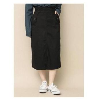 イーハイフンワールドギャラリー E hyphen world gallery ツイルフラップポケットスカート (Black)