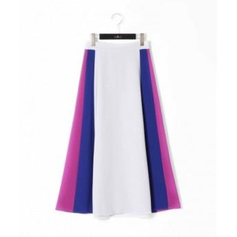 GRACE CONTINENTAL / グレースコンチネンタル トリアセカラーブロックスカート