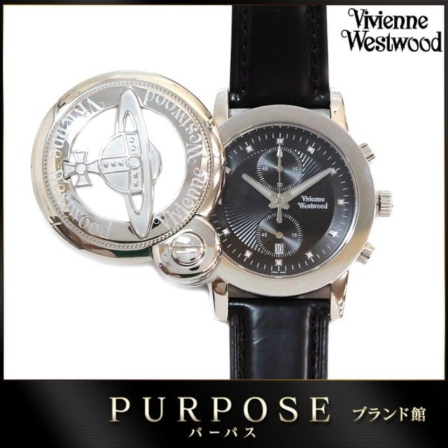 3686fb8df3 ヴィヴィアン ウエストウッド Vivienne Westwood CAGE Mウォッチ メンズ 腕時計 クロノグラフ VW-2063 ブラック