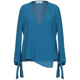 《期間限定 セール開催中》KAOS レディース シャツ ブルー 42 65% アセテート 35% シルク