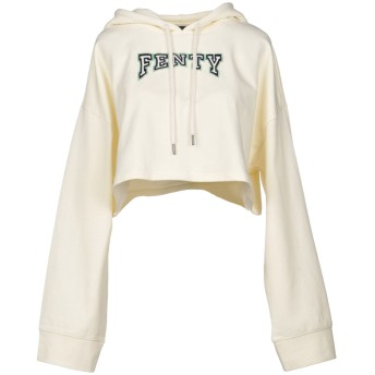 《期間限定セール開催中!》FENTY PUMA by RIHANNA レディース スウェットシャツ アイボリー XS コットン 78% / ポリエステル 17% / ポリウレタン 5%