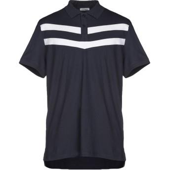《期間限定セール開催中!》BIKKEMBERGS メンズ ポロシャツ ダークブルー XS 95% コットン 5% ポリウレタン