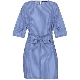 《セール開催中》MANGANO レディース ミニワンピース&ドレス ブルー L 60% コットン 37% ナイロン 3% ポリウレタン