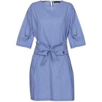 《期間限定セール開催中!》MANGANO レディース ミニワンピース&ドレス ブルー L 60% コットン 37% ナイロン 3% ポリウレタン