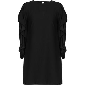 《セール開催中》KATIA GIANNINI レディース ミニワンピース&ドレス ブラック 44 ポリエステル 100%