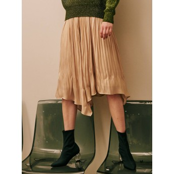 [LAGUNAMOON]グロッシープリーツフレアースカート