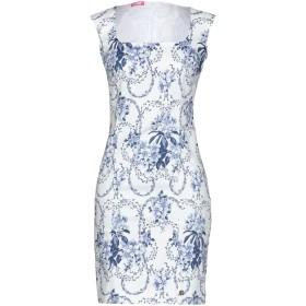 《セール開催中》BLUGIRL FOLIES レディース ミニワンピース&ドレス ホワイト 38 97% コットン 3% ポリウレタン