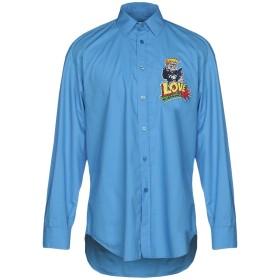 《期間限定セール開催中!》LOVE MOSCHINO メンズ シャツ アジュールブルー M 100% コットン