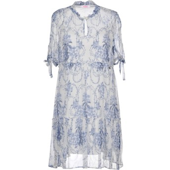 《セール開催中》BLUGIRL BLUMARINE レディース ミニワンピース&ドレス ホワイト 40 レーヨン 100%