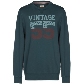 《期間限定セール開催中!》VINTAGE 55 メンズ スウェットシャツ ディープジェード S コットン 100%