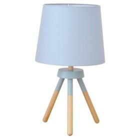 テーブルライト(卓上照明器具) 北欧 ファブリック×天然木 ELUX(エルックス) POOKY ブルー 〔電球別売〕〔代引不可〕【配達日時指定不可】