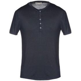 《期間限定 セール開催中》DANIELE FIESOLI メンズ T シャツ ダークブルー S 麻 94% / ポリウレタン 6%