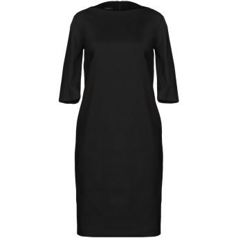 《セール開催中》LES COPAINS レディース ミニワンピース&ドレス ブラック 40 コットン 63% / ナイロン 31% / ポリウレタン 6%