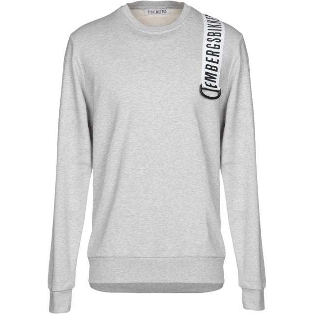 《期間限定セール開催中!》BIKKEMBERGS メンズ スウェットシャツ ライトグレー XS コットン 100% / ポリウレタン