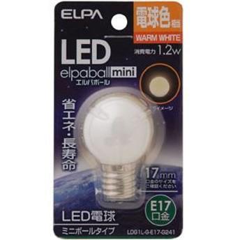 【ELPA】 LED電球G30形E17 LDG1L-G-E17-G241 その他
