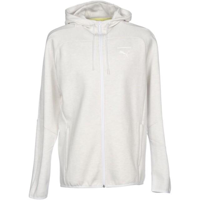 《セール開催中》PUMA メンズ スウェットシャツ アイボリー L コットン 98% / ポリウレタン 2%