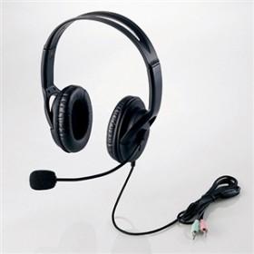 【エレコム】 両耳ヘッドセット HS-HP28BK ヘツドセツトマイク
