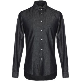 《期間限定セール開催中!》BRIAN DALES メンズ デニムシャツ ブルー 41 60% コットン 40% 麻