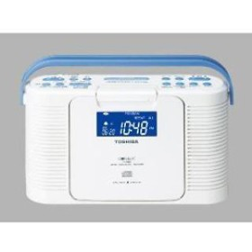【東芝】 防水CDクロックラジオ TY-CDB5 W お風呂ラジオ