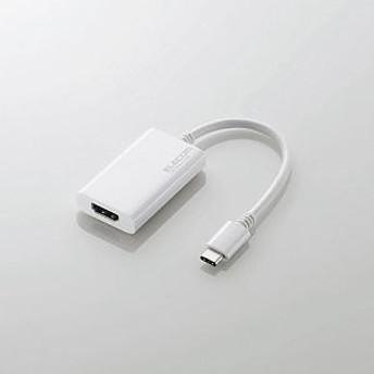 【エレコム】 Type-C変換アダプタ/TypeC-HDMI AD-APCHDMIWH Mac周辺機器(純正以外)