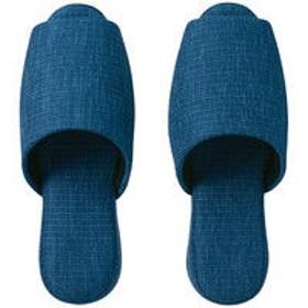 【布製】吊り込み前開きスリッパ クイート ブルー 1袋(1足入) 富士工業