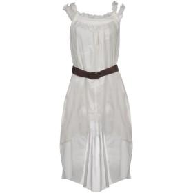 《セール開催中》SISTE' S レディース ミニワンピース&ドレス ホワイト XS コットン 96% / ポリエステル 4%