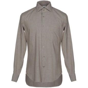 《セール開催中》BORSA メンズ シャツ 鉛色 39 100% コットン