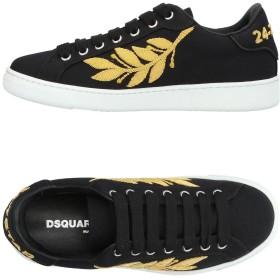 《セール開催中》DSQUARED2 レディース スニーカー&テニスシューズ(ローカット) ブラック 36 紡績繊維
