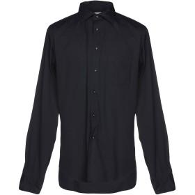 《セール開催中》BORSA メンズ シャツ ダークブルー 43 75% コットン 23% ナイロン 2% ポリウレタン