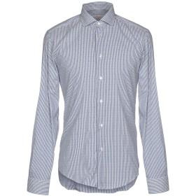 《期間限定セール開催中!》BRIAN DALES メンズ シャツ ブルー 39 72% コットン 25% ナイロン 3% ポリウレタン