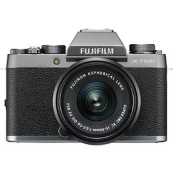 【フジフイルム】 小型一眼カメラ 1本レンズキット(電動ズーム) 4K X-T100LK-DS デジタル一眼カメラ