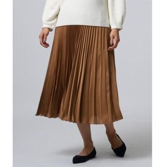 UNTITLED / アンタイトル サテンヴィンテージプリーツスカート