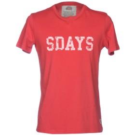《セール開催中》SDAYS メンズ T シャツ レッド S コットン 100%