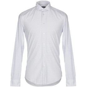 《セール開催中》BRIAN DALES メンズ シャツ ホワイト 41 コットン 100%