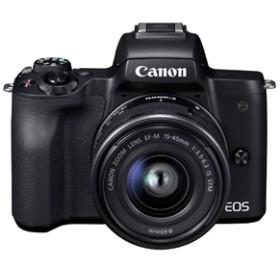 【キヤノン】 小型一眼カメラ 1本レンズキット(標準ズーム) 4K EOS(イオス) KISSM-1545ISSTMLK(BK) デジタル一眼カメラ