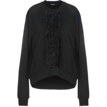 《期間限定セール開催中!》DSQUARED2 レディース スウェットシャツ ブラック M コットン 100% / ポリウレタン / ポリエステル