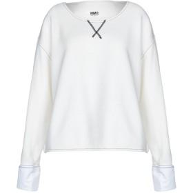 《セール開催中》MM6 MAISON MARGIELA レディース スウェットシャツ ホワイト S コットン 75% / ポリエステル 15% / レーヨン 8% / 指定外繊維 2%