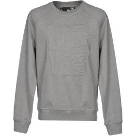 《期間限定 セール開催中》LOVE MOSCHINO メンズ スウェットシャツ グレー XS 96% コットン 4% ポリウレタン