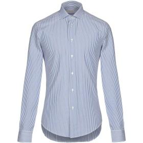 《セール開催中》BRIAN DALES メンズ シャツ アジュールブルー 43 100% コットン