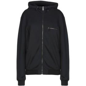 《期間限定セール開催中!》VERSACE レディース スウェットシャツ ブラック XS コットン 100% / ポリウレタン / 羊革(ラムスキン)