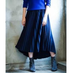 MK MICHEL KLEIN / エムケーミッシェルクラン 【洗える】イレヘムプリーツスカート