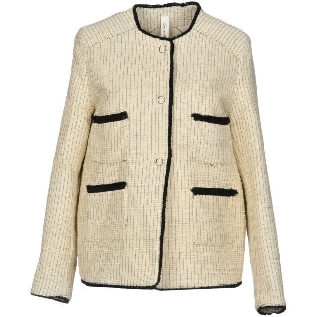 《期間限定 セール開催中》SOUVENIR レディース テーラードジャケット ベージュ M 58% コットン 33% ポリエステル 9% ナイロン