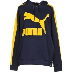 《期間限定 セール開催中》PUMA レディース スウェットシャツ ダークブルー XS コットン 68% / ポリエステル 32% / ポリウレタン
