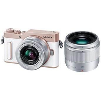 【パナソニック】 小型一眼カメラ 2本レンズキット(単焦点+標準ズーム) 4K LUMIX(ルミックス) DC-GF10W-W デジタル一眼カメラ