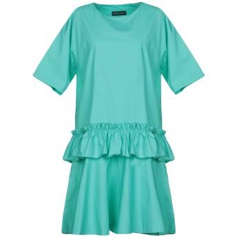 《セール開催中》VANESSA SCOTT レディース ミニワンピース&ドレス ライトグリーン S コットン 100%