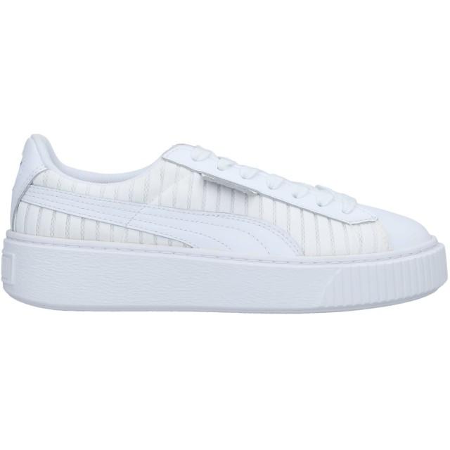 《セール開催中》PUMA レディース スニーカー&テニスシューズ(ローカット) ホワイト 5 革 / 紡績繊維
