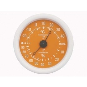 【タニタ】 温湿度計 TT-515-OR 温度計・湿度計