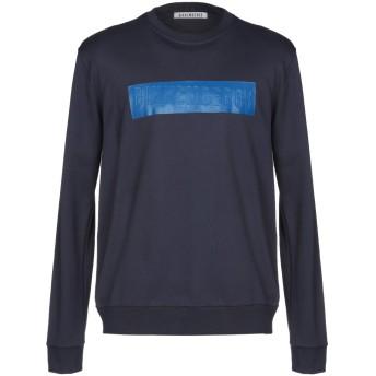 《期間限定セール開催中!》BIKKEMBERGS メンズ スウェットシャツ ダークブルー S 100% コットン ポリウレタン