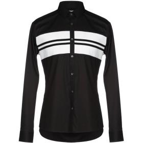 《期間限定 セール開催中》URBAN LES HOMMES メンズ シャツ ブラック 48 96% コットン 4% ポリウレタン