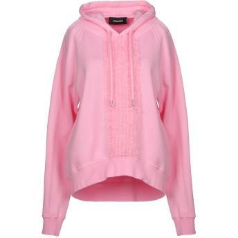《期間限定セール開催中!》DSQUARED2 レディース スウェットシャツ ピンク XS コットン 100% / ポリウレタン / ポリエステル